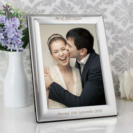 Personalised Silver Plated Photo Frame 5x7