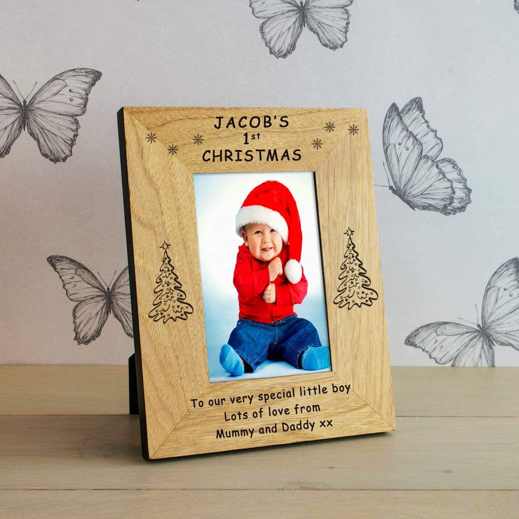 Personalised Baby's 1st Christmas Photo Frame from Pukkagifts.uk