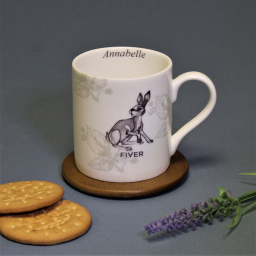 Personalised Watership Down Fiver Balmoral Mug from Pukkagifts.uk
