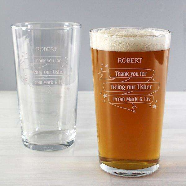 Personalised Shining Star Pint Glass from Pukkagifts.uk