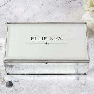 Personalised Classic Mirrored Jewellery Box from Pukkagifts.uk