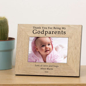 Thank You For Being My Godparents Photo Frame,Pukka Gifts