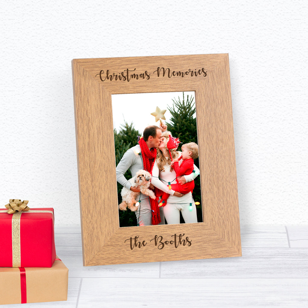 Personalised Christmas Memories Photo Frame 6x4