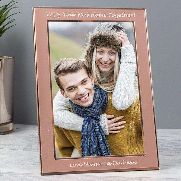 Personalised Classic Rose Gold Photo Frame 4x6 from Pukkagifts.uk