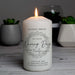 Personalised 'Truly Blessed' Naming Day Pillar Candle