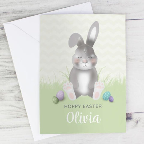Personalised Easter Bunny Card from Pukkagifts.uk