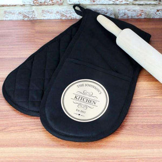 Personalised Decorative Oven Gloves from Pukkagifts.uk