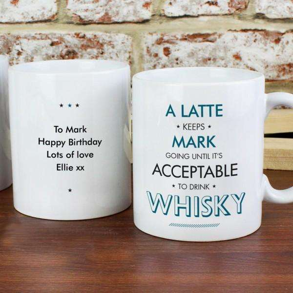 Personalised Acceptable To Drink Mug from Pukkagifts.uk