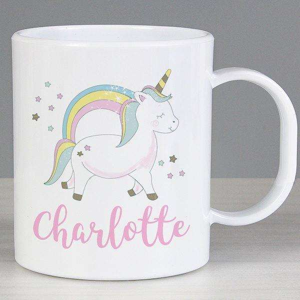 Personalised Baby Unicorn Plastic Mug from Pukkagifts.uk
