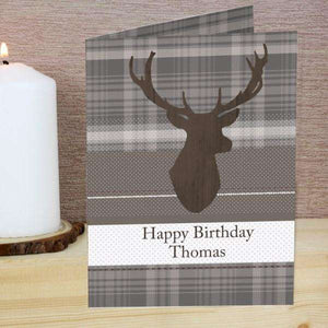Personalised Highland Stag Card from Pukkagifts.uk