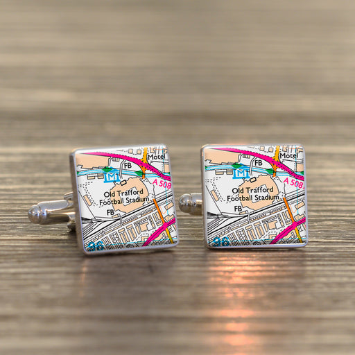 Football Stadium Map Cufflinks