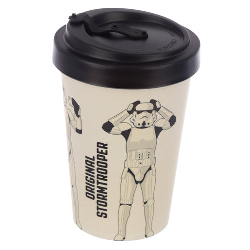 The Original Stormtrooper White Reusable Screw Top Bamboo Composite Travel Mug