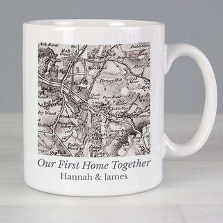 Personalised 1805 - 1874 Old Series Map Compass Mug from Pukkagifts.uk