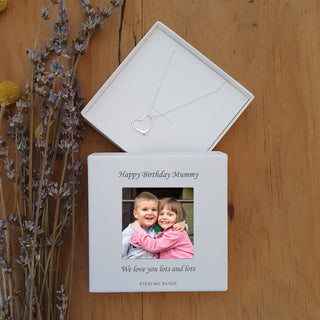 Heart Necklace With Personalised Photo Upload Gift Box