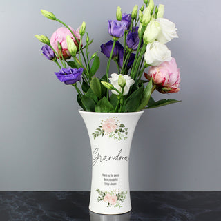 Personalised Abstract Rose Ceramic Waisted Vase