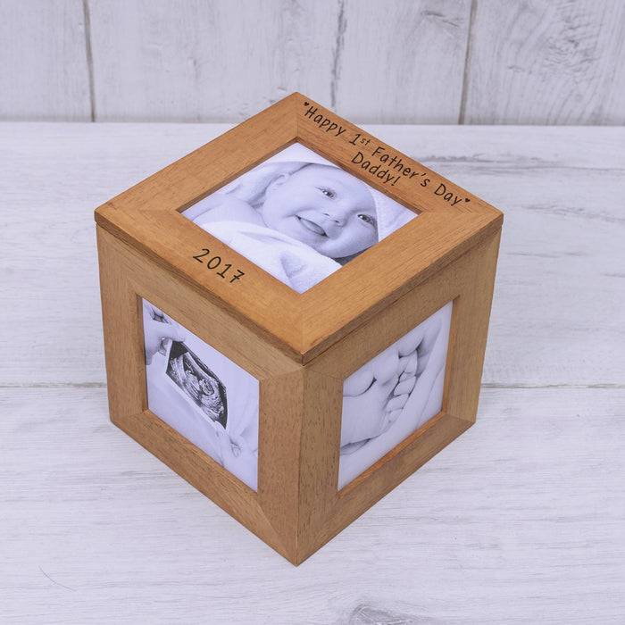 Personalised Happy 1st Father's Day Daddy Photo Keepsake Box