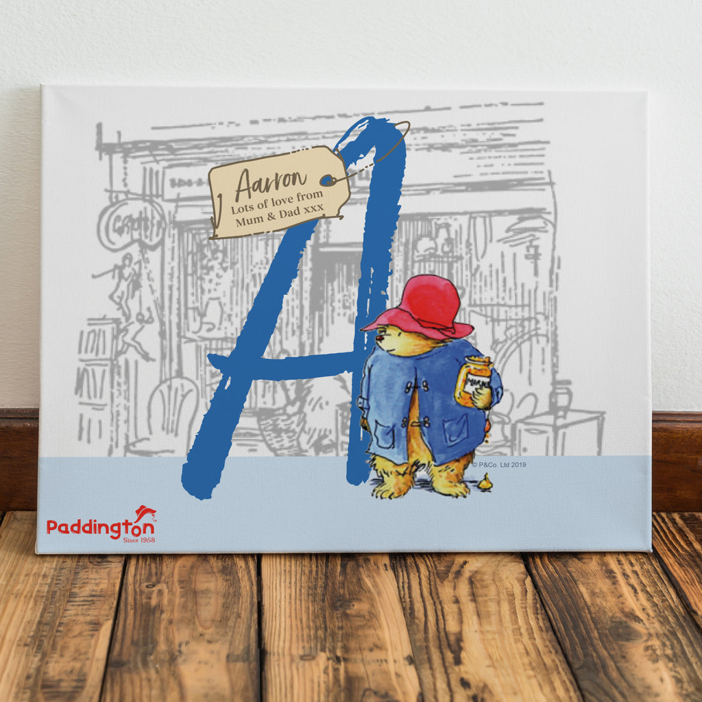 Personalised Paddington Bear Canvas