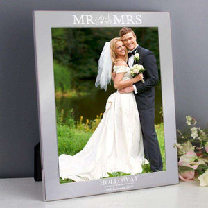 Personalised Mr & Mrs Silver Photo Frame 8x10,Pukka Gifts
