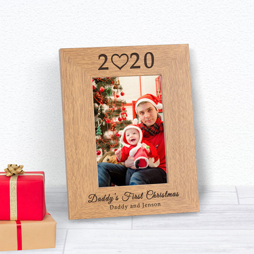 Personalised Daddys First Christmas Photo Frame 6x4