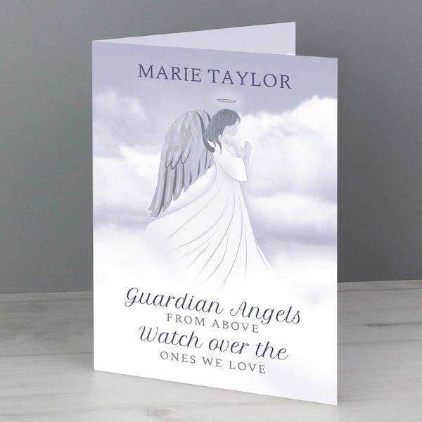 Personalised Guardian Angel Sympathy Card from Pukkagifts.uk