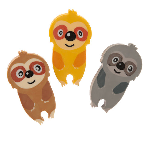 Sloth 3 Piece Eraser Set
