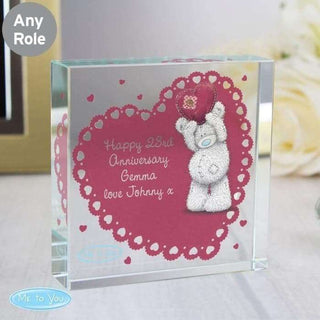 Personalised Me To You Heart Large Crystal Token from Pukkagifts.uk