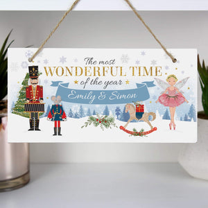 Personalised Nutcracker Christmas Wooden Sign