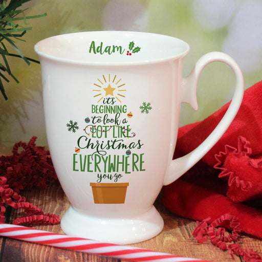 Personalised It's Beginning To Look A Lot Like Christmas Marquee Mug