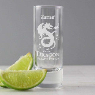 Personalised Dragon Breath Potion Shot Glass from Pukkagifts.uk