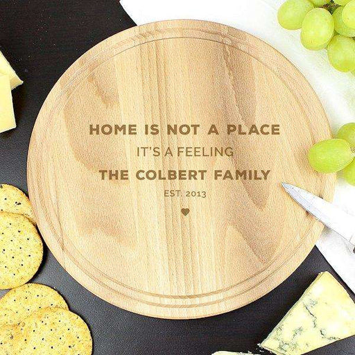 Personalised Round Chopping Board from Pukkagifts.uk