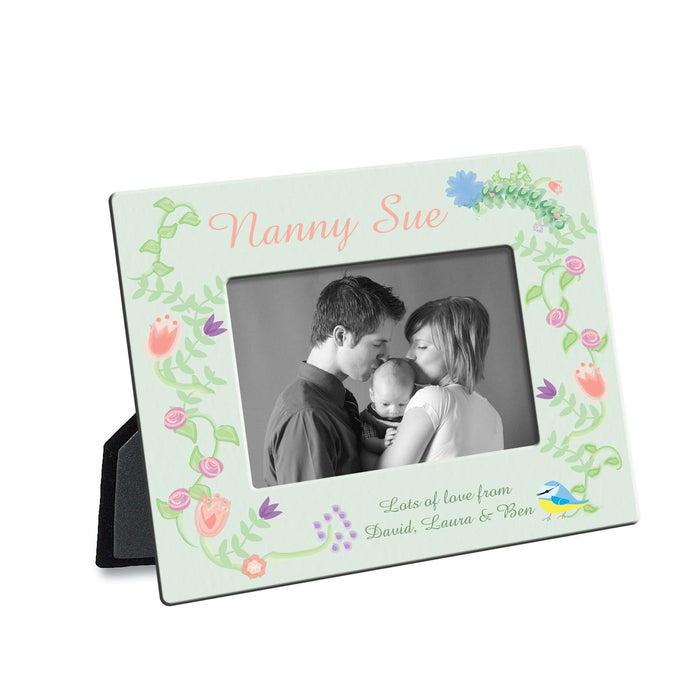Personalised Photo Frame Spring Garden Design from Pukkagifts.uk