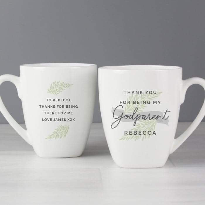 Personalised Godparent Latte Mug from Pukkagifts.uk