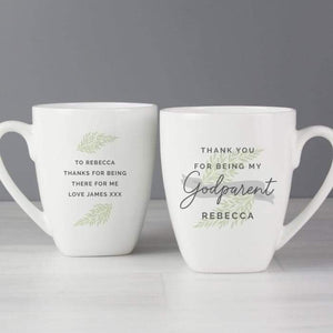 Personalised Godparent Latte Mug