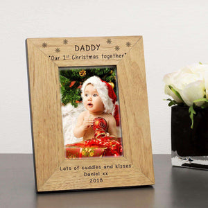 Personalised Daddy Our 1st Christmas Together Photo Frame,Pukka Gifts