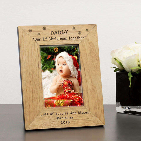 Personalised Daddy Our 1st Christmas Together Photo Frame from Pukkagifts.uk