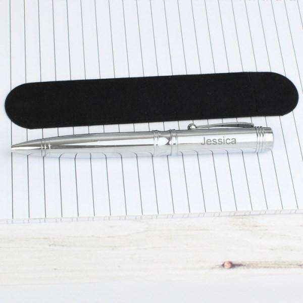Personalised Classic Pen and Pouch Set from Pukkagifts.uk