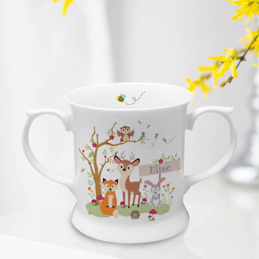 Personalised Woodland Bone China Loving Cup from Pukkagifts.uk