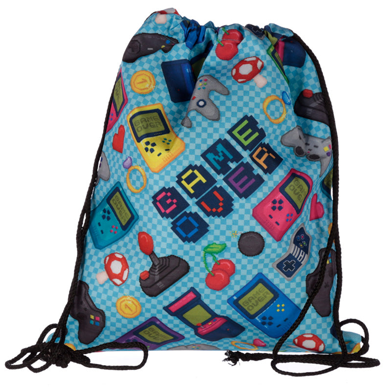 Retro Gaming Drawstring Bag from Pukkagifts.uk