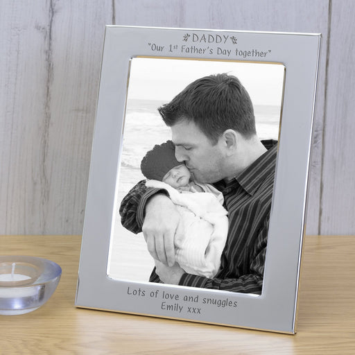 Personalised DADDY Our 1st Father's Day Together Silver Photo Frame