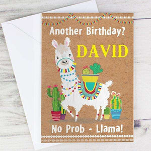 Personalised Llama Card from Pukkagifts.uk