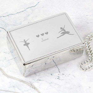 Personalised Ballerina Rectangular Jewellery Box from Pukkagifts.uk
