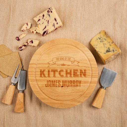 Personalised King of the Kitchen Round Cheeseboard