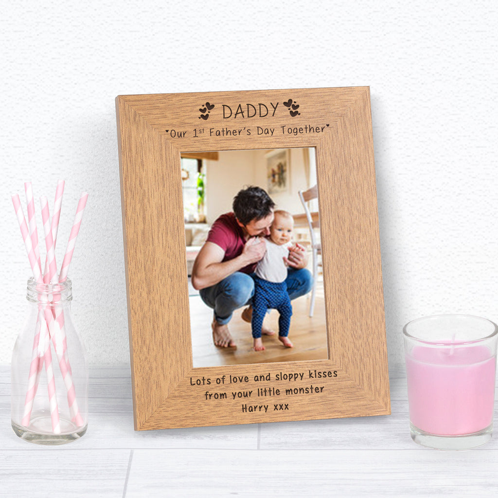 Personalised Daddy Our 1st Fathers Day Together Photo Frame from Pukkagifts.uk