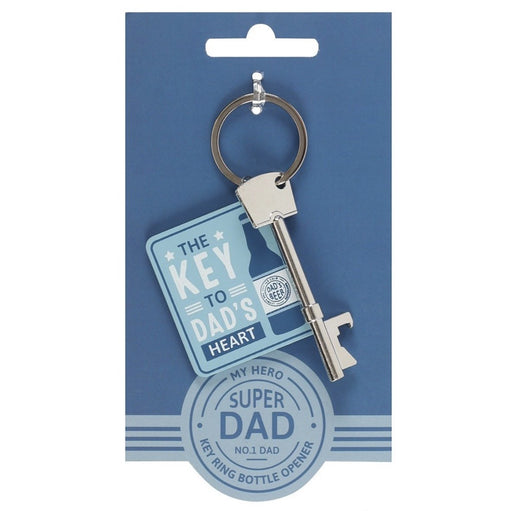The Key to Dad's Heart Keyring