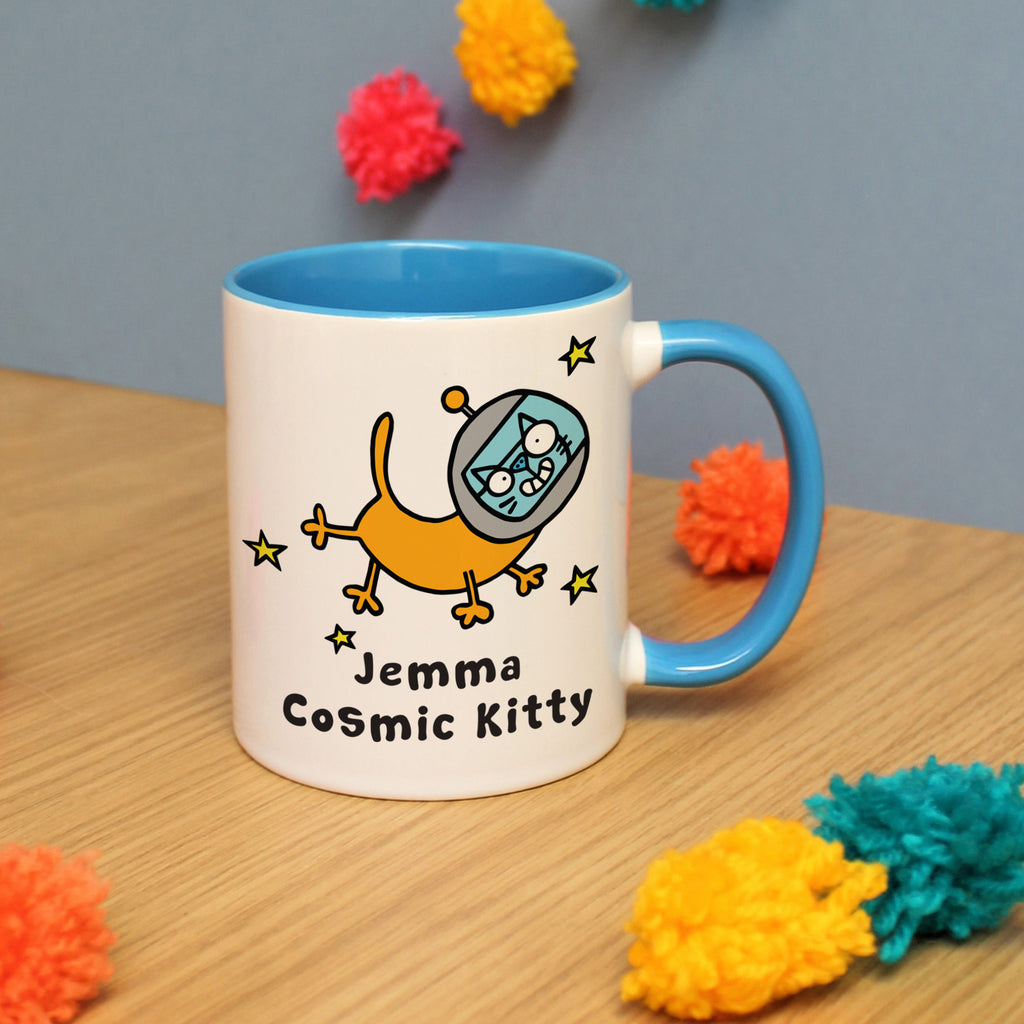 Personalised Cosmic Kitty Mug