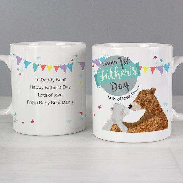 Personalised 1st Father's Day Daddy Bear Mug from Pukkagifts.uk