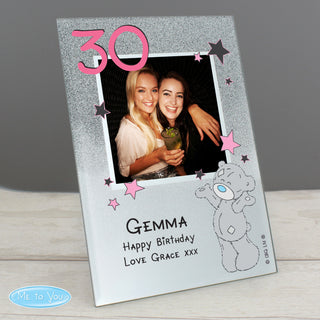 Personalised Me To You Birthday Glitter Glass Photo Frame 4x4