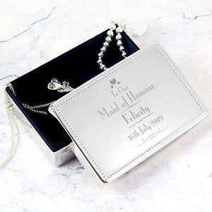 Personalised Wedding Maid of Honour Jewellery Box from Pukkagifts.uk