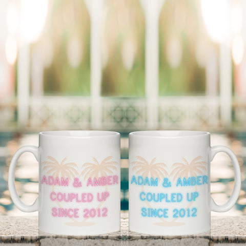 Personalised Coupled Up Since White Mug Set from Pukkagifts.uk