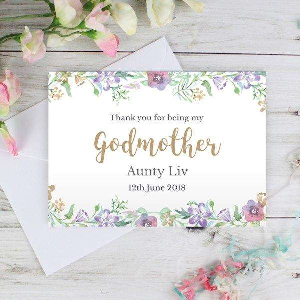 Personalised Thank You For Being My Godmother Card from Pukkagifts.uk